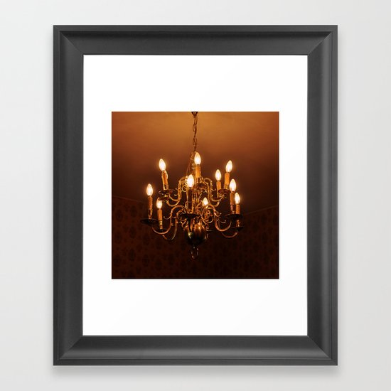 Glowing Chandelier Framed Art Print