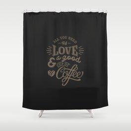 Love Coffee Shower Curtain