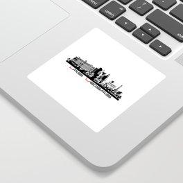 Las Vegas skyline black Sticker