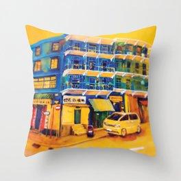 blue house (hong kong) Throw Pillow