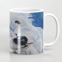 westie Mugs featuring Westie Named Tavin by Karren Garces Pet Art