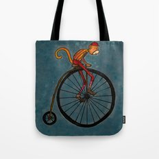 Penny Farthing Pete Tote Bag