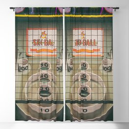 Skee Ball Game Blackout Curtain