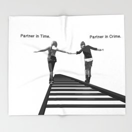 Partner in Time, Partner in Crime, Max Caulfield and Chloe Price Train Tracks Throw Blanket