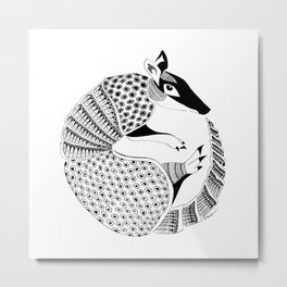 Possum on the Half Shell (Armadillo) Metal Print