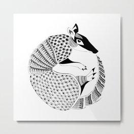 Possum on the Half Shell (Armadillo) Metal Print