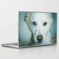 best friend Laptop & iPad Skins featuring Man's Best Friend by Sharon RG Photography