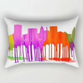 Baltimore, Maryland Skyline - Puddles Rectangular Pillow