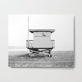 Beach Photography black and white print Metal Print