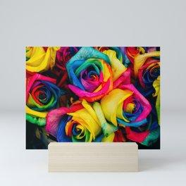 Rainbow Roses Mini Art Print