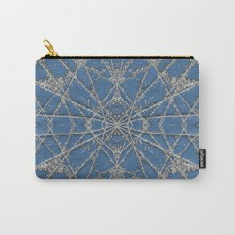 Snowflake Blue Carry-All Pouch