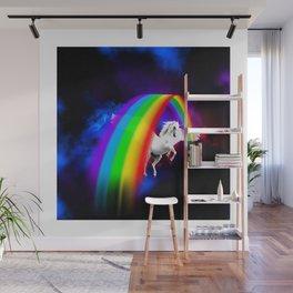 Unicorn & Rainbow Wall Mural