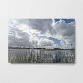 Cloudy sunset in the lagoon. Metal Print