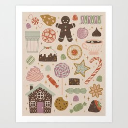 In the Land of Sweets Art Print