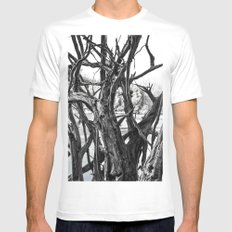 fallen tree roots MEDIUM Mens Fitted Tee White