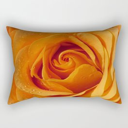 Gold Rose Bud- Orange Roses and flowers Rectangular Pillow
