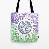 supernatural Tote Bags featuring Supernatural by Beastie Toyz