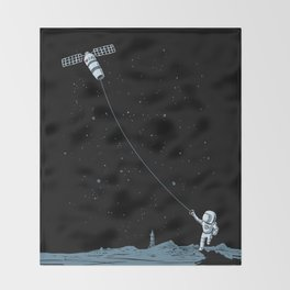 Satellite Kite Throw Blanket