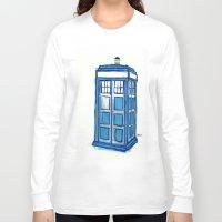 tardis Long Sleeve T-shirts featuring Tardis by Stepharooskie