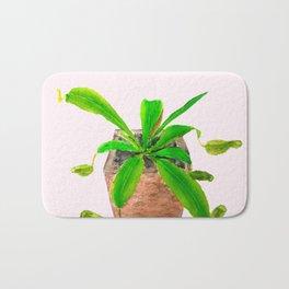 tropical pitcher plant watercolor painting Bath Mat