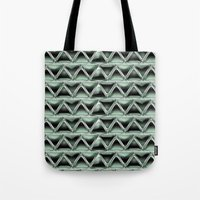 malachite Tote Bags featuring Malachite Triangles by naturessol