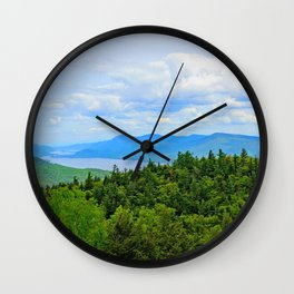 Lake George Overlook Wall Clock