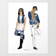 Fashion Journal: Day 17 Art Print