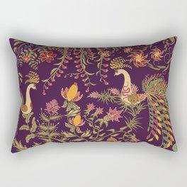 Birds of Paradise. Colorful illustration. Rectangular Pillow