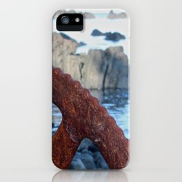 Rusty Wheel Photography Print iPhone Case