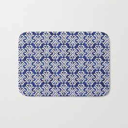 Justina Criss Cross Blue Bath Mat