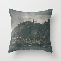 storm Throw Pillows featuring Storm by Rafael Igualada