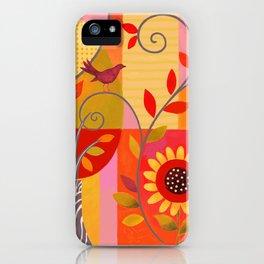 Modern Sunflower Garden iPhone Case