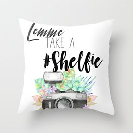 Lemme Take a #Shelfie Throw Pillow