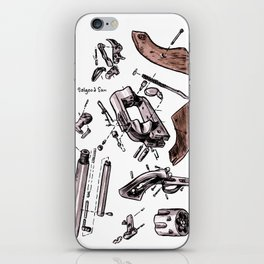 Exploded Gun iPhone Skin