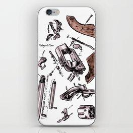 Exploded Gun iPhone Skin