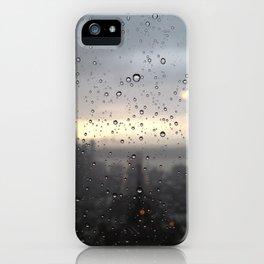 window rain drops iPhone Case
