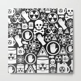Danger a background Metal Print