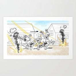 Army Retreat Art Print