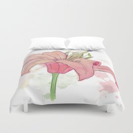 Messy Watercolor: Lily Duvet Cover