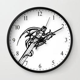 Drawing Dragons Wall Clock