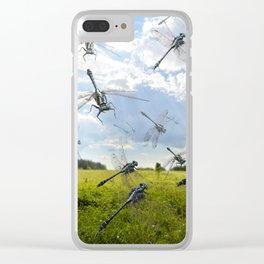 Idyllic dragonflies Clear iPhone Case