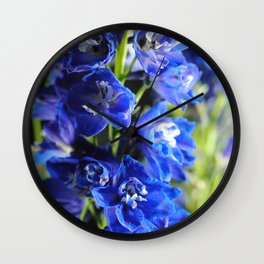 Blue Delphinium Wall Clock