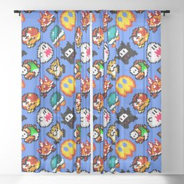 Pixel Pattern Sheer Curtains Society6