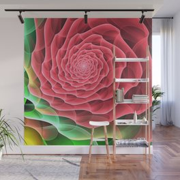 Swirling into a Rose Wall Mural
