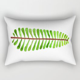 Woodland Fern Watercolor Rectangular Pillow