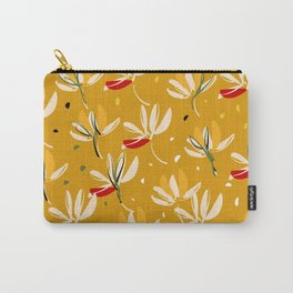 Vanilla flowers on a peanut background Carry-All Pouch