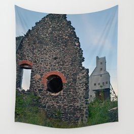 Quincy Hill Mine Shaft and Ruins Wall Tapestry