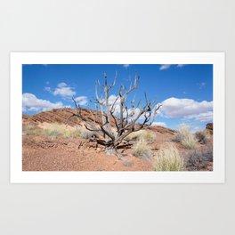 Blue Tree Art Print