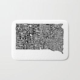 Typographic South Dakota Bath Mat