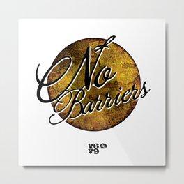 No Barriers Metal Print